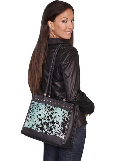 Scully Western Hair on Calf Handbag