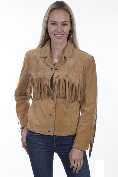 Scully Leather Suede Fringe Jacket - Old Rust