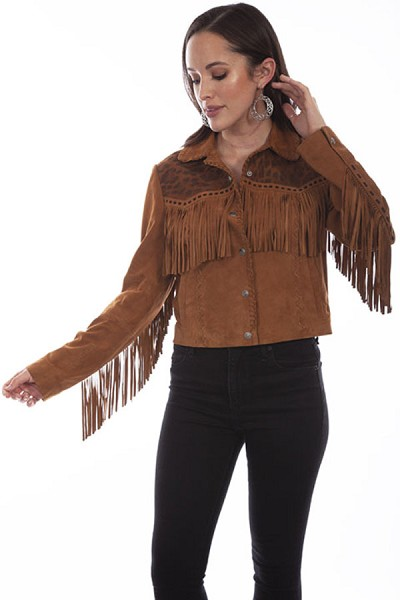 Scully Leather Vintage Lamb Jacket in Cognac