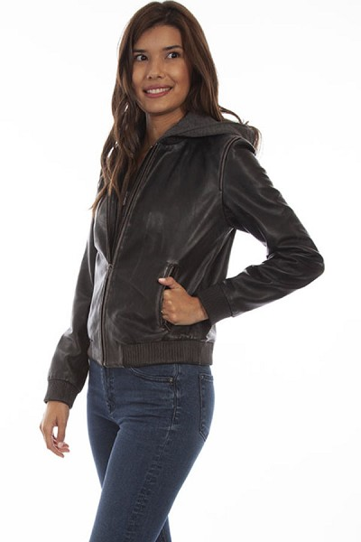 Scully Leather Jacket in Black