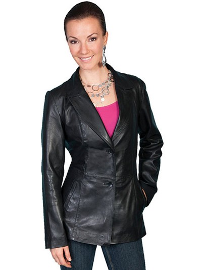 Scully Leather Tailored Lamb Blazer